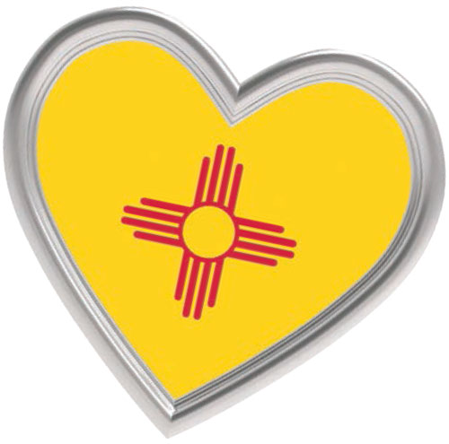 heart-shaped New Mexico flag
