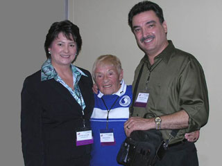 photo of Victoria L Magown and George Pellegrino with Bonnie Prudden